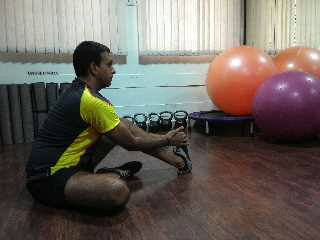 seated soleus stretch